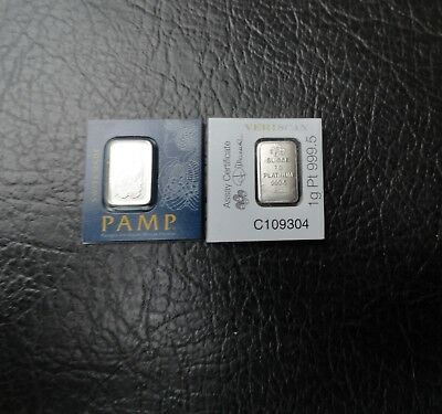 Pamp 1 Gram .999 Platinum Bar