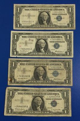 1957-1957B $1 Blue SILVER Certificates *** 4 STARs *** Old US Currency