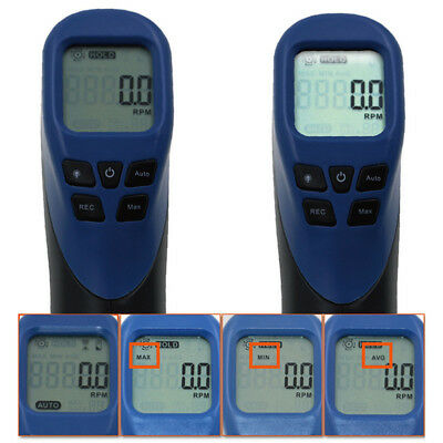Digital Tachometer Gun Non-Contact Rpm Tach Tester Meter Speed Gauge Home Tool