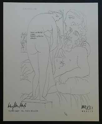 HAYDEN KAYS - Original 'Taking The Picasso' Typewriter piece + COA - 2013