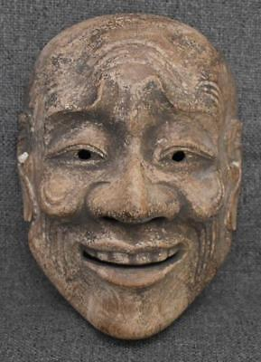 Antique Japanese Carved And Painted Wooden Mask #3 - Old Man