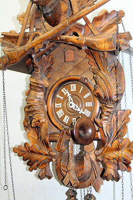*Old Large Cuckoo Clock Wall clock Chime Black Forest Regula XXL UHR 7 Days 70cm