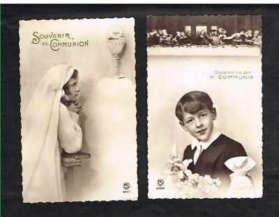 Communion - 2 Cartes Postales écrites.