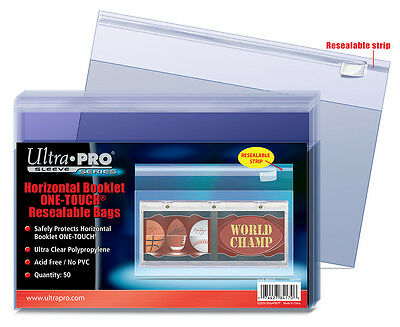 1 Pack of 50 Ultra Pro One Touch Booklet Storage Resealable Bag - Horizontal