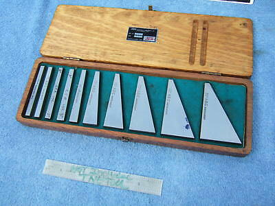Flat Angle Blocks (10) Abg Ins 1/2 To 30* Machinist Toolmaker Inspect Mill Grind