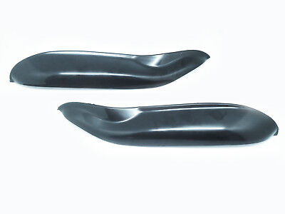Unpainted Eyelid Eyebrows Head light Covers For 07-14 Smart Fortwo 451 W451 Mk2