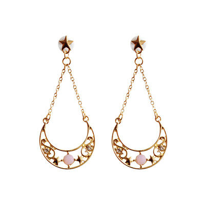 Anime Sailor Moon Crystal Pearl Pendant Earrings Cosplay Jewelry One Pair