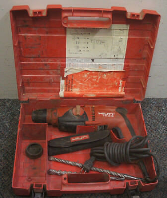 Hilti TE 2-S 120V SDS Plus Rotary Hammer Drill With 9 Bits & Hard Carrying Case