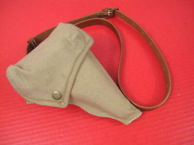 WWII Japanese Type 94 Pistol Canvas Holster w/Shoulder Strap - Reproduction