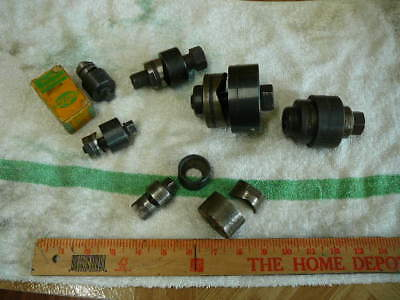 """Assorted GreenLee Panel punch sets. 2"""",1-1/2"""",1"""",15/16""""w/box,1/2"""",1"""",1"""" no bolt"""