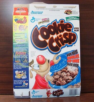 General Mills ~1999~ Cookie Crisp~~ Cereal Box