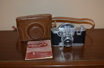 Vintage Mercury II CX Model 1/2 Frame Camera with Tricor 35mm f 2.7 Lens & Case