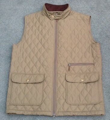 2abe51b4527 JACK MURPHY Mens Olive Padded Quilted Zipped Gilet Bodywarmer XL   FAB