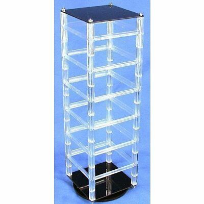 """Revolving Rotating Acrylic Earring Display Holds 48 2"""" Cards"""