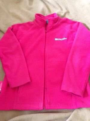 Mountain Warehouse Girls Pink Zip Up Jacket Size 7 - 8 Years Good Condition
