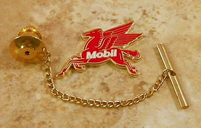 Mobil Pegasus Tie Tack Pin and Chain Clasp