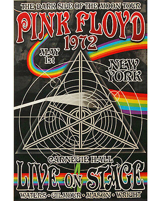 Pink Floyd - Dark Side of the Moon Concert Poster 1972 - 8x10 Photograph
