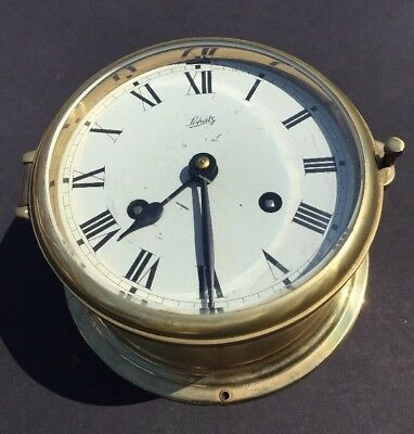 Schatz Ship's Bell Clock Made In Germany 8 Day, Time And Bell Strike, Key Wind