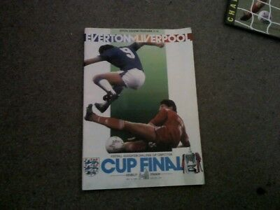 Everton v Liverpool F.A.Cup Final programme 1986
