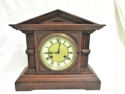 A Victorian Architectural Chiming Mantel Clock (Lomond) By Junghans