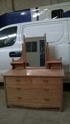 Vintage Oak Dressing Table With Mirror. Charity Sale