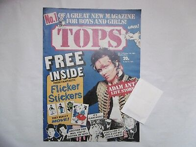'Tops' Comic, No.1. October 10th, 1981, with Free Gift