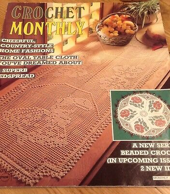 Vintage Crochet Monthly Magazine No 78 Crochet Patterns Doilies