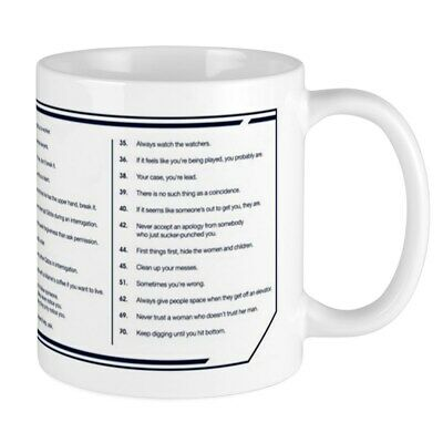 CafePress NCIS Gibbs' Rules Mug 11 oz Ceramic Mug (2033004397)