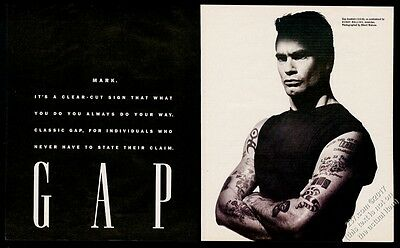 1991 Henry Rollins photo The Gap fashion store vintage print ad
