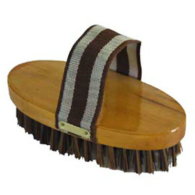 "7-1/2"" Hilason Western Horse Care Wooden Body Polypropylene Bristles Brush"