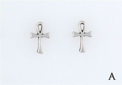 Sterling Silver Ankh Choice - Charm, Post, Dangle Earrings