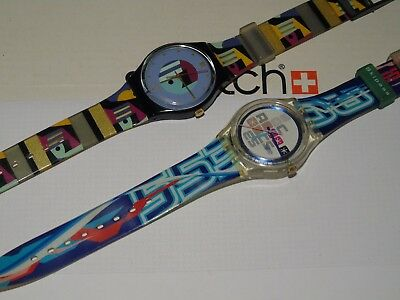Lot Of 2 Swatch Watches  Rare L@@k  Top  Wow Vintage