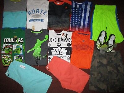 Boys SCHOOL SPRING SUMMER Size 12  Lot CLOTHES & OUTFITS Shorts & Tops NEW!!