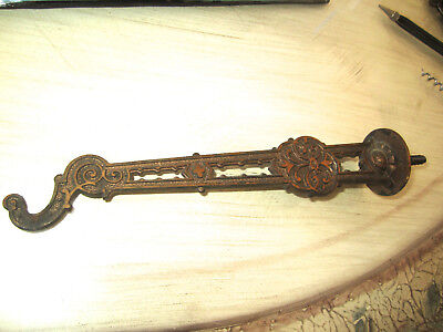 Antique Cast Iron Bronzed Victorian Plant Hanger In Good Used Condition