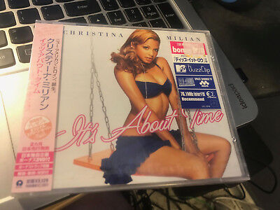 """Christina Milian """"About Time"""" JAPAN cd and DVD SEALED w/OBI UICL-9016"""