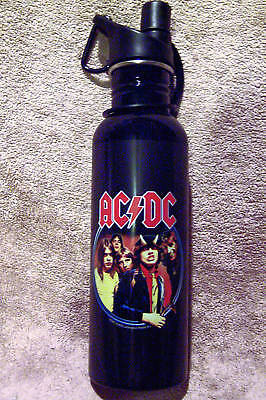 Ac/dc Band Highway To Hell Logo Metal  25 Oz. Water Bottle New