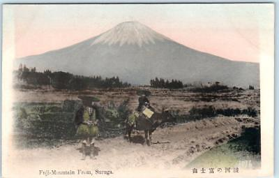SURUGA PROVINCE, JAPAN  Handcolored View MT. FUJI   ca 1910s  Postcard