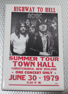 """Ac/dc Highway To Hell Christchurch New Zealand Concert June 79 Magnet 2""""x3"""" New"""
