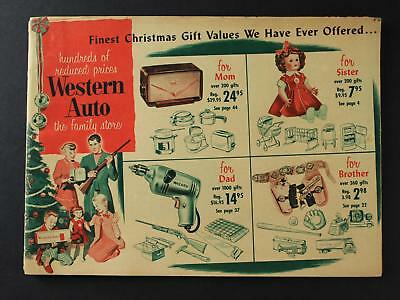 1950s WESTERN AUTO STORE CHRISTMAS TOY CATALOG~46 Pages~