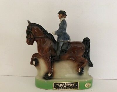 Ezra Brooks Jockey On Horse Decanter 1974 Saddleseat Rider Saddlebred Horse
