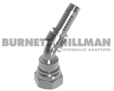 Burnett & Hillman BSP Swivel Female x Hose-Tail 135° Swept Hydraulic Fitting