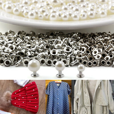 400pcs Remaches Perlas para Decorar Vestido Novia Velo Bolso Zapatilla 6 8 10mm