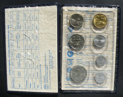 C-USA 1979 Coins of Israel Uncirculated Set Brilliant Uncirculated