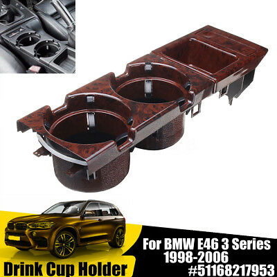 Front Center Console Drink Cup Holder Storing Coin Box For BMW E46 1998-2006