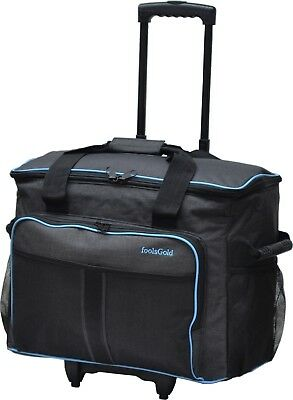 foolsGold Pro Thick Padded Sewing Machine Trolley Bag on Wheels Carry Case