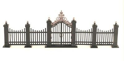 """Dept 56 Heritage Village """"wrought Iron Gate And Fence"""" Set 55140 * Free Shipping"""