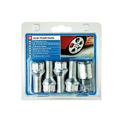 Sumex Anti Theft Locking Wheel Lock Bolt Nuts + Key (14mm x 1.50 L28 Thread) -