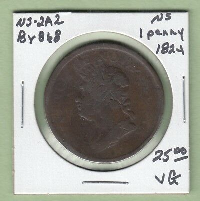 1824 Nova Scotia One Penny Token - NS-2A2 - VG