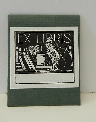 Saturn Press Ex Libris 20 Gummed Bookplates Cat Books Library New