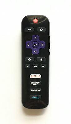 """1× RC280 Remote for TCL Roku TV with HBONOW Sling Netflix Amazon New !  """"303"""""""